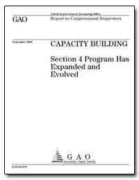 Capacity Building Section 4 Program Has ... by General Accounting Office