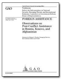 Foreign Assistance Observations on Post-... by Westin, Susan S.