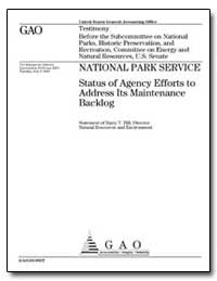 National Park Service Status of Agency E... by Hill, Barry T.