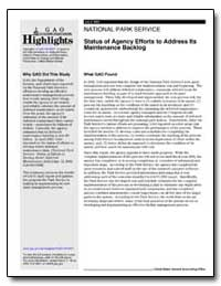 National Park Service Status of Agency E... by General Accounting Office