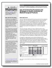 Group Purchasing Organizations Use of Co... by General Accounting Office