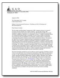 Environmental Disclosure : Briefing on G... by Stephenson, John B.