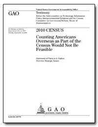 Counting Americans Overseas as Part of t... by Dalton, Patricia A.