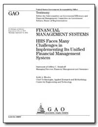 Hhs Faces Many Challenges in Implementin... by Steinhoff, Jeffrey C.