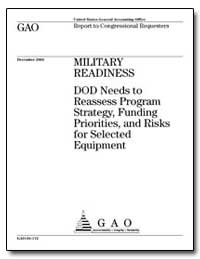 Military Readiness Dod Needs to Reassess... by General Accounting Office