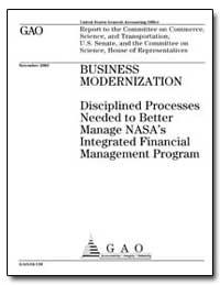 Business Modernization Disciplined Proce... by General Accounting Office