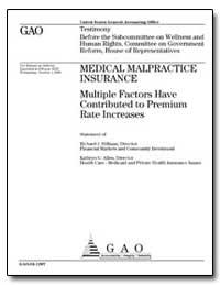 Medical Malpractice Insurance Multiple F... by Hillman, Richard J.
