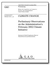 Climate Change Preliminary Observations ... by Stephenson, John B.
