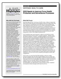 Defense Health Care Dod Needs to Improve... by General Accounting Office