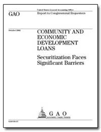 Securitization Faces Significant Barrier... by General Accounting Office