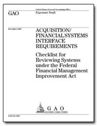 Acquisition/ Financial Systems Interface... by General Accounting Office