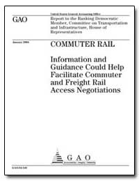 Commuter Rail Information and Guidance C... by General Accounting Office