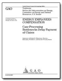 Energy Employees Compensation Case-Proce... by Robertson, Robert E.