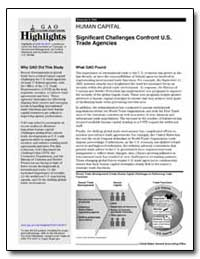 Human Capital Significant Challenges Con... by General Accounting Office