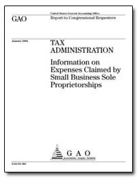 Tax Administration Information on Expens... by General Accounting Office