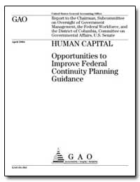 Human Capital Opportunities to Improve F... by General Accounting Office
