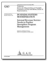 Business Systems Modernization Internal ... by Dacey, Robert F.