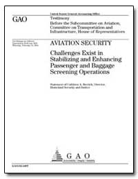 Aviation Security Challenges Exist in St... by Berrick, Cathleen A.
