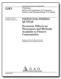 Indiviudal Fishing Quotas Economic Effec... by Mittal, Anu K.