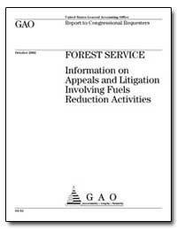 Information on Appeals and Litigation In... by General Accounting Office