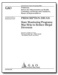 Prescription Drugs State Monitoring Prog... by Crosse, Marcia