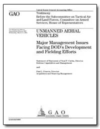 Unmanned Aerial Vehicles Major Managemen... by Curtin, Neal P.