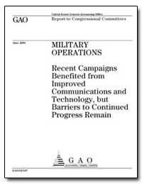 Military Operations Recent Campaigns Ben... by General Accounting Office