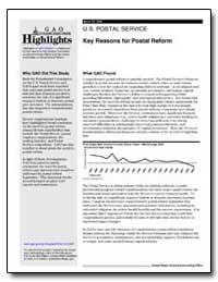 U.S. Postal Service Key Reasons for Post... by General Accounting Office