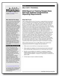 Military Training Dod Report on Training... by General Accounting Office