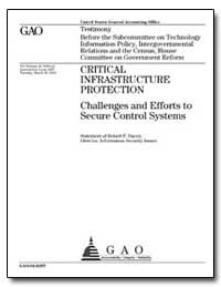 Critical Infrastructure Protection Chall... by Dacey, Robert F.