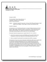 Federally Chartered Corporation : Review... by General Accounting Office