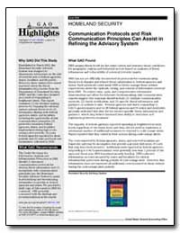 Homeland Security Communication Protocol... by General Accounting Office