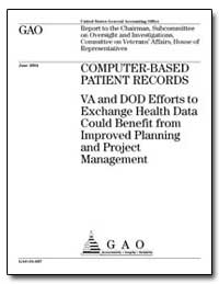 Computer-Based Patient Records Va and Do... by General Accounting Office