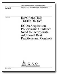 Information Technology Dod's Acquisition... by General Accounting Office
