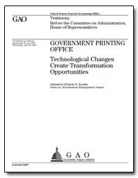 Government Printing Office Technological... by Koontz, Linda D.