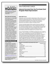 Vha Purchase Cards Internal Controls Ove... by General Accounting Office