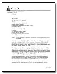 Nuclear Regulatory Commission : Revision... by General Accounting Office