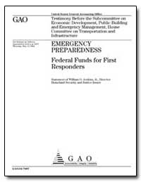 Federal Funds for First Responders by Jenkins, William O.