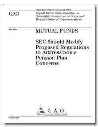 Sec Should Modify Proposed Regulations t... by General Accounting Office