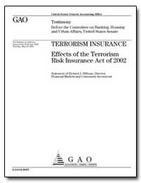 Effects of the Terrorism Risk Insurance ... by Hillman, Richard J.