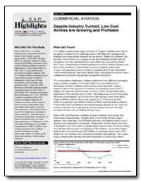 Despite Industry Turmoil, Low Cost Airli... by General Accounting Office