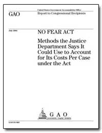 Methods the Justice Department Says It C... by General Accounting Office