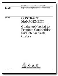 Guidance Needed to Promote Competition f... by General Accounting Office
