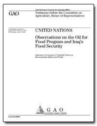 Observations on the Oil for Food Program... by Christoff, Joseph A., Director