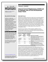 Internal Control Weaknesses at Dod Led t... by General Accounting Office