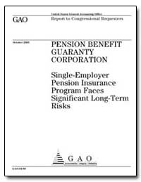 Single-Employer Pension Insurance Progra... by General Accounting Office