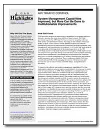 System Management Capabilities Improved,... by General Accounting Office