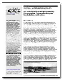U.S. Participation in the Arctic Militar... by General Accounting Office
