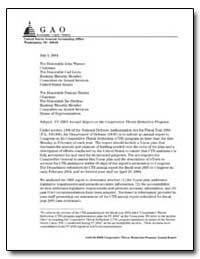 Fy 2005 Annual Report on the Cooperative... by General Accounting Office