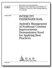 Amtrak's Management of Northeast Corrido... by General Accounting Office